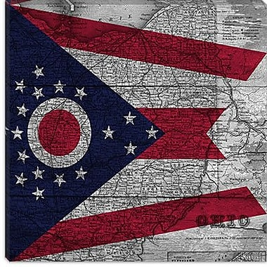 iCanvas Flags Ohio Graphic Art on Canvas; 18'' H x 18'' W x 1.5'' D