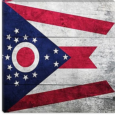iCanvas Flags Ohio Planks Graphic Art on Canvas; 37'' H x 37'' W x 1.5'' D
