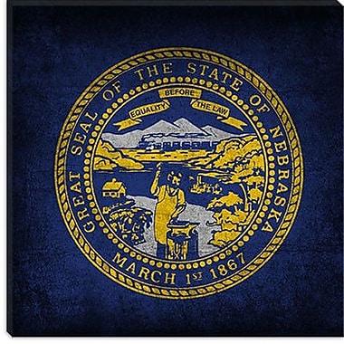 iCanvas Flags Nebraska Graphic Art on Canvas; 37'' H x 37'' W x 1.5'' D