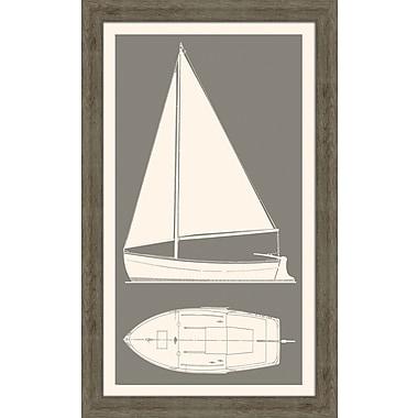Melissa Van Hise Sail Boat II Framed Graphic Art; Grey