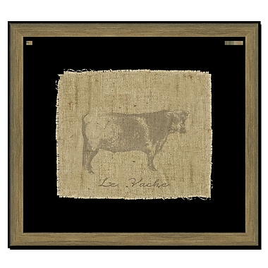 Melissa Van Hise Cow I Framed Graphic Art; Taupe