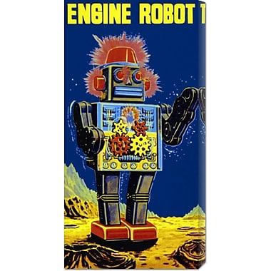 Global Gallery 'Engine Robot' by Retrobot Vintage Advertisement on Wrapped Canvas