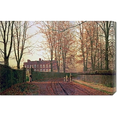 Global Gallery 'Going to Church' by John Atkinson Grimshaw Painting Print on Wrapped Canvas
