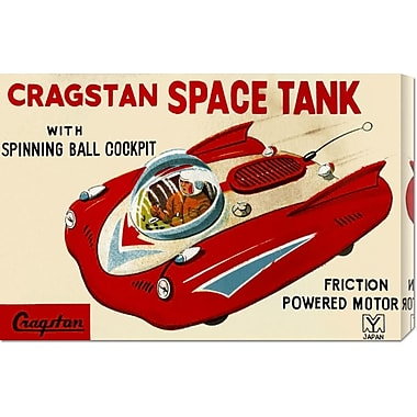 Global Gallery 'Cragstan Space Tank' by Retrotrans Vintage Advertisement on Wrapped Canvas