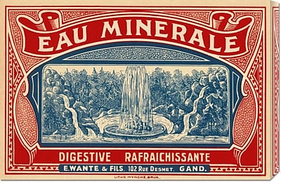 Global Gallery 'Eau Minerale' by Retrolabel Vintage Advertisement on Wrapped Canvas