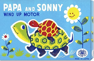 Global Gallery 'Papa and Sonny' by Retrobot Vintage Advertisement on Wrapped Canvas