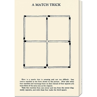 Global Gallery 'A Match Trick' by Retromagic Vintage Advertisement on Wrapped Canvas