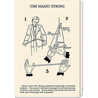 Global Gallery 'The Magic String' by Retromagic Vintage Advertisement on Wrapped Canvas