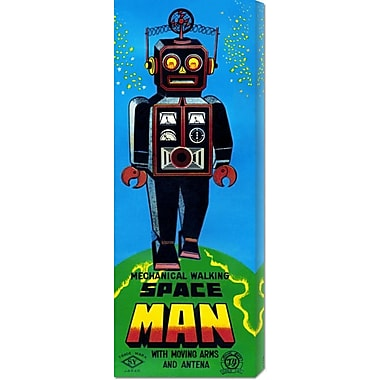 Global Gallery 'Mechanical Walking Space Man' by Retrobot Vintage Advertisement on Wrapped Canvas