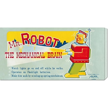 Global Gallery 'Mr. Robot: The Mechanical Brain' by Retrobot Vintage Advertisement on Wrapped Canvas