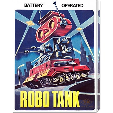 Global Gallery 'Robo Tank' by Retrobot Vintage Advertisement on Wrapped Canvas