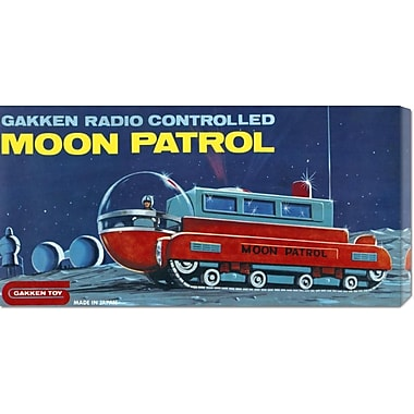 Global Gallery 'Moon Patrol' by Retrotrans Vintage Advertisement on Wrapped Canvas