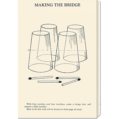Global Gallery 'Making the Bridge' by Retromagic Vintage Advertisement on Wrapped Canvas