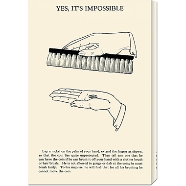 Global Gallery 'Yes, It's Impossible' by Retromagic Vintage Advertisement on Wrapped Canvas