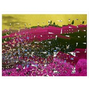 Carlyle Fine Art Abstract Cut Up by Jordan Carlyle Graphic Art; 54'' x 72''