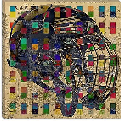 iCanvas Canada Hockey Mask #4 Graphic Art on Canvas; 26'' H x 26'' W x 1.5'' D