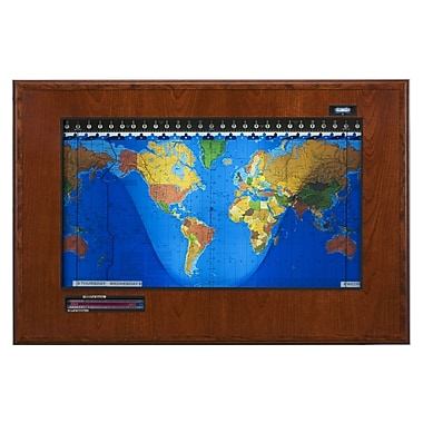 Geochron Geochron Boardroom Model World Wall Clock; Cherry