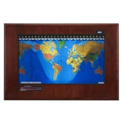 Geochron Geochron Boardroom Model World Wall Clock; Mahogany