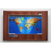 Geochron Geochron Boardroom Model World Wall Clock; Hickory
