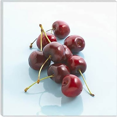 iCanvas Food and Cuisine Red Cherries Photographic Print on Canvas; 26'' H x 26'' W x 0.75'' D