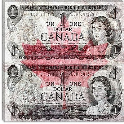iCanvas One Canadian Dollar 6 Graphic Art on Canvas; 37'' H x 37'' W x 1.5'' D