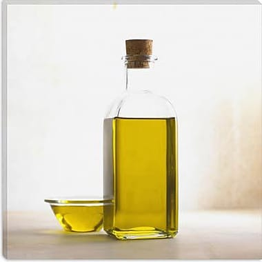 iCanvas Food and Cuisine Olive Oil Bottle Photographic Print on Canvas; 37'' H x 37'' W x 1.5'' D