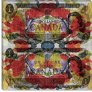 iCanvas Canada One Dollar Graphic Art on Canvas; 37'' H x 37'' W x 1.5'' D