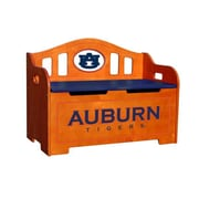 Fan Creations NCAA Stained Kids Novelty Chair w/ Storage Compartment; Auburn