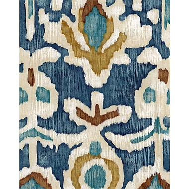 Art Effects Ocean Ikat I by Chariklia Zarris Painting Print on Wrapped Canvas