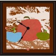 Green Leaf Art Apples 16'' Art Wall Clock