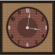 Green Leaf Art Brick Mural 20'' Art Wall Clock