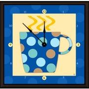 Green Leaf Art Coffee Cups 11'' Art Wall Clock