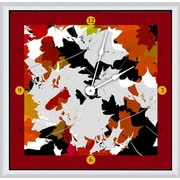 Green Leaf Art Fall 20'' Art Wall Clock