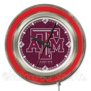 Holland Bar Stool NCAA 15'' Double Neon Ring Logo Wall Clock; Texas A&M
