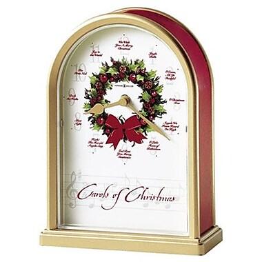 Howard Miller Musical and Chiming Carols of Christmas Holiday Table Clock
