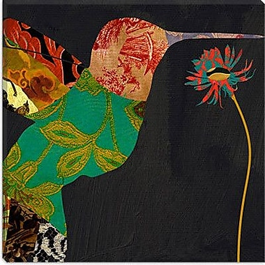 iCanvas Color Bakery Humming Bird Brocade IV Graphic Art on Canvas; 12'' H x 12'' W x 1.5'' D