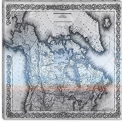 iCanvas 1855 Colton Map of British of Canada #2 Graphic Art on Canvas; 37'' H x 37'' W x 0.75'' D