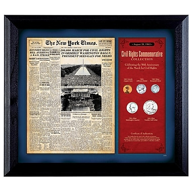 American Coin Treasure New York Times March For Civil Rights Framed Memorabilia
