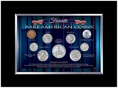 American Coin Treasure Favorite Rare American Coins Desk Framed Memorabilia