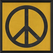 The Artwork Factory Peace Framed Graphic Art; Yellow/Black