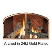 Napoleon Fireplace Decorative Door Kit; Arched / Gold Plated (24  Karat)