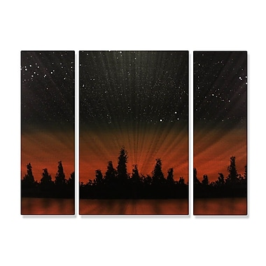 All My Walls 'At Days End' by Justin Strom 3 Piece Graphic Art Plaque Set