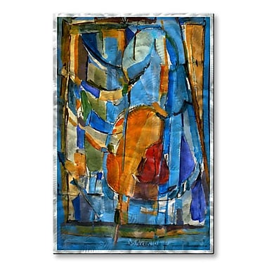 All My Walls 'Rib-Cage 32' by Wendy Morris Painting Print Plaque
