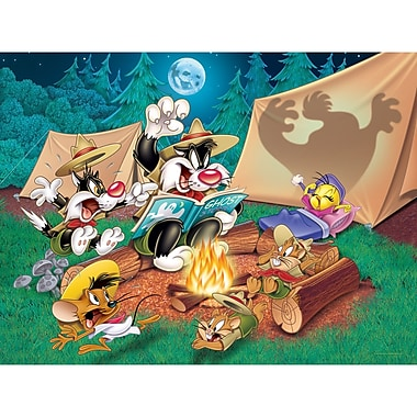 Oriental Furniture Sylvester and Tweety Camping Canvas Art