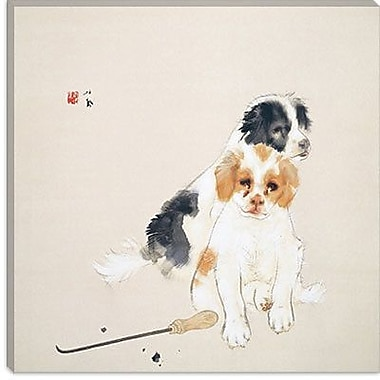iCanvas 'Fireside' by Takeuchi Seiho Painting Print on Canvas; 12'' H x 12'' W x 0.75'' D