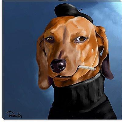 iCanvas 'Dach Cool_001' by Brian Rubenacker Graphic Art on Canvas; 37'' H x 37'' W x 0.75'' D