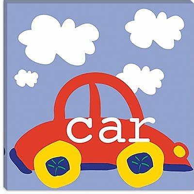 iCanvas Erin Clark ''Red Car'' Canvas Wall Art; 18'' H x 18'' W x 1.5'' D