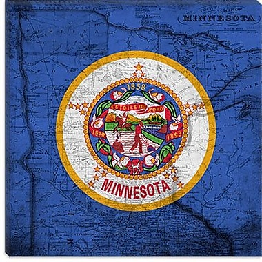 iCanvas Minnesota Flag, Grunge Vintage Map Graphic Art on Canvas; 26'' H x 26'' W x 1.5'' D