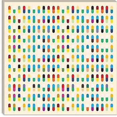 iCanvas Modern 10 Capsules Memorabilia Graphic Art on Canvas; 12'' H x 12'' W x 0.75'' D