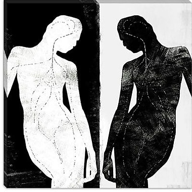 iCanvas Modern Contrasting Silhouette Figure Graphic Art on Canvas; 18'' H x 18'' W x 1.5'' D